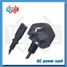 Factory Wholesale UK type power cords with molded plug