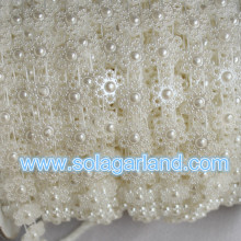 25Meter Small White Flower Pearl Trim Bead Accent For Decor