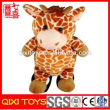 mochila de pelúcia animal girafa recheado de pelúcia bonito para criança