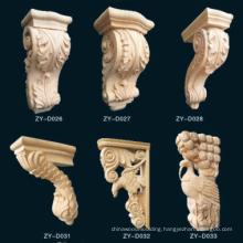 Steam beech corbel/ beech carved decor