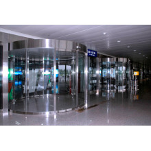 Automatic arc sliding doors