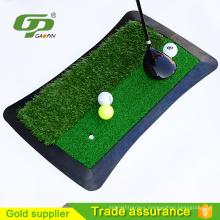 High durability rubber base artificial grass golf putting mat