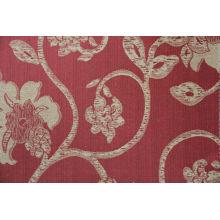 vente chaude dernière fleur deaisn motif personnalisé jacquard tissu d'ameublement en polyester avec variantes colorways pour housse de canapé