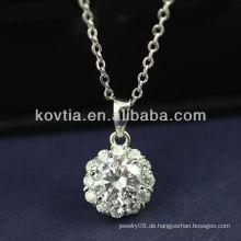 Luxuriöser Zirkon-Diamant und 925 Sterling Silber Anhänger