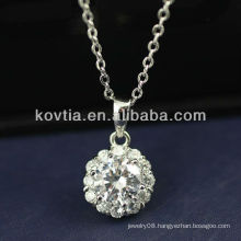 Luxurious cubic zircon diamond and 925 sterling silver pendants