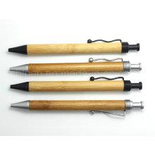 Special Bending Clip Bamboo Pen Designed