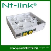 SC adaptor 4 Port Fiber Optic Wall/ surface mount box