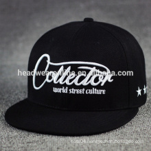 Promotional Price!!!fashion custom Sports Caps,embroidered black 100% cotton snapback caps
