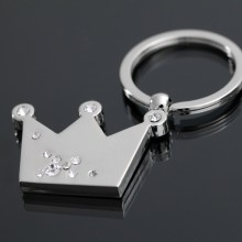 Fareast Hot Stainless Steel Silver Royal Crown keychain