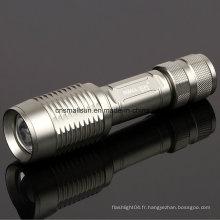 Lampe de poche de la police d'ampoule CREE avec batterie Li-ion