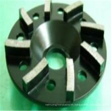 ruedas de amolar de hormigón negro turbo