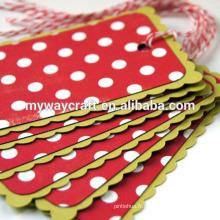Panneaux de polka faits à la main 3d Papier rouge