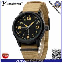 Yxl-313 banda de nylon o correa de la parte superior de venta de acero inoxidable reloj de la fecha del calendario de moda casual Dw deporte relojes para las mujeres de los hombres