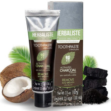 OEM/ODM Teeth Whitening Coconut Activated Charcoal Toothpaste