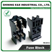 FB-6012 Soporte de fusible de vidrio de 600V 2 polos de 15 amperios montado en panel