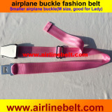 Unique special Smaller size airplane buckle women's belt for lady and womens