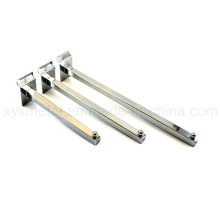 Square Tube Straight Arm Slatwall Hooks for Hanging Shop Display