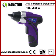 Li-ion Screwdriver 3.6V Battery Screwdriver