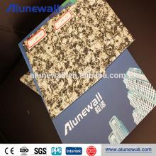 Materiales de construcción exteriores livianos, panel compuesto de aluminio con acabado de mármol