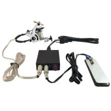 PS108007 NUEVO kit de suministro de alimentación de la máquina de tatuaje Pro con cable de clip de pie plano