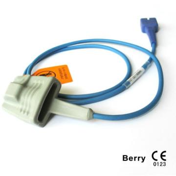 Утвержденный CE Совместимый Nellcor 9pin Oximax Adult Finger SpO2 Sensor