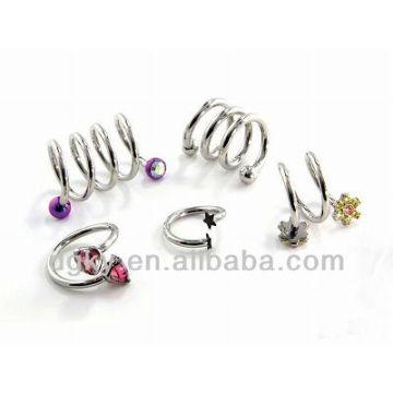 Spiral Twist Surgical steel ear piercing earrings