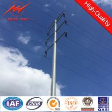 Восьмигранная 11.8 м 500dan электрического освещения столбы для ЛЭП
