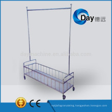 HM-20 stainless steel coat hanger with basket on wheel for cloth laundry