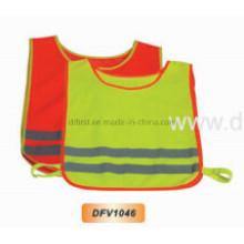 Жилет с высокой видимостью безопасности для детей с упругим закрытием (DFV1046)