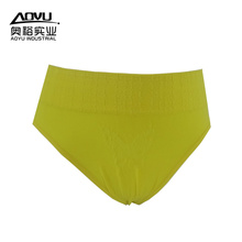 Young Women Yellow Cotton Tight Underwear T Pants