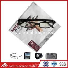 Microfibra de color patrón de impresión barato paño de limpieza de gafas