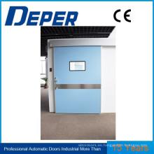 Puerta automática para sala de operaciones hospitalarias