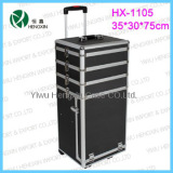 Universal Aluminum Trolley cosmetic cases with drawers
