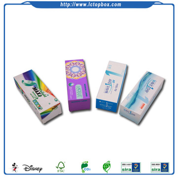 wholesale contact lenses paper boxes