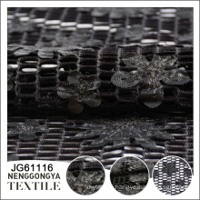 Made in China Cheap Comfortable polyester laser cut lace fabric