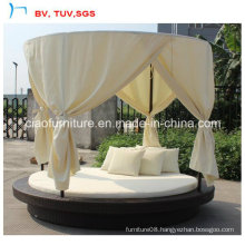 Hot Selling Garden Round Rattan Sofa with Shed (CF970L)