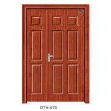 Puerta de PVC Puerta interior de la puerta de madera (DTH-070)