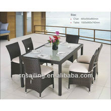 Popular Patio Waterproof classic rattan dining table set