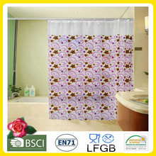 Fábrica impresa plástica de la cortina de ducha de PVC / EVA