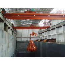 EOT Crane With Grab Bucket For Waste Management/Power Gener
