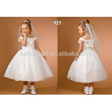 2016 New Design High quality Lovely Popular White Flower Girl Children Wedding Dress