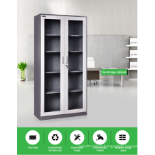 Full Height Metal Sliding glass Door Office storage cabinet