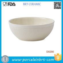 Italian Style White Ceramic Salad Bowl