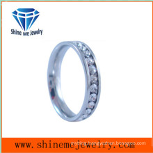 Shineme Jewelry Hot Selling Imitation Zircon 316L Stainless Steel Ring