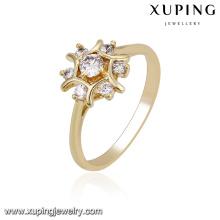 El diseño de los anillos de oro de las mujeres de la joyería del anillo xuping 14219 para los anillos de las mujeres
