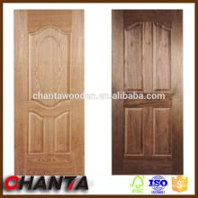 Ceniza, teca, sapele, cereza de puerta de buena calidad / puerta de chapa