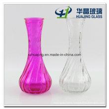 Simple Embossed Flower Glass Vase