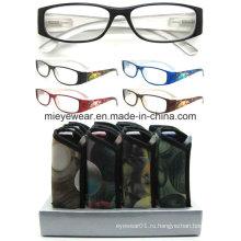 Дамы моды пластиковые очки чтения (MRP21664)