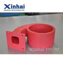 El revestimiento de goma rojo alisa ambos lados, hoja de goma para la introducción del grupo de la máquina minera