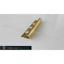 10 milímetros de ouro brilhante alumínio Radius Floor Trim